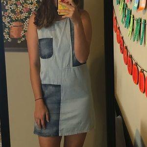 Vintage Denim Patch Dress